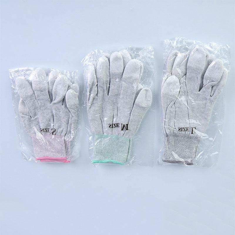 碳纤维PU涂掌手套_防静电手套