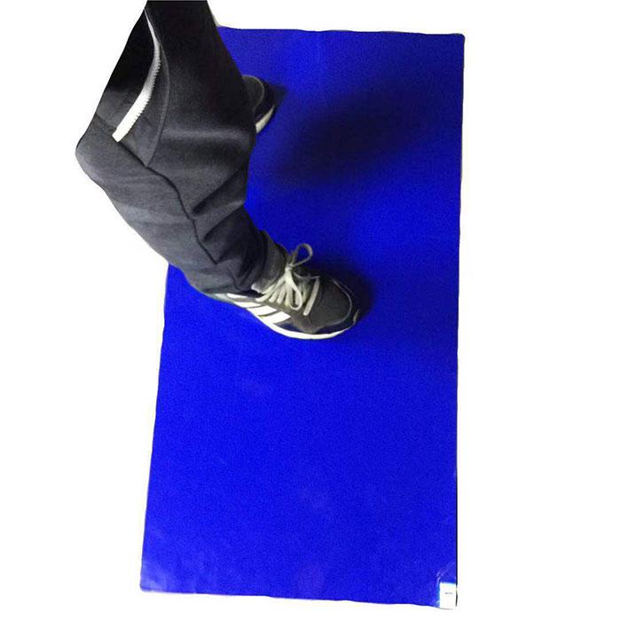 粘尘地垫_无尘室脚踏垫_除尘可撕蓝色垫