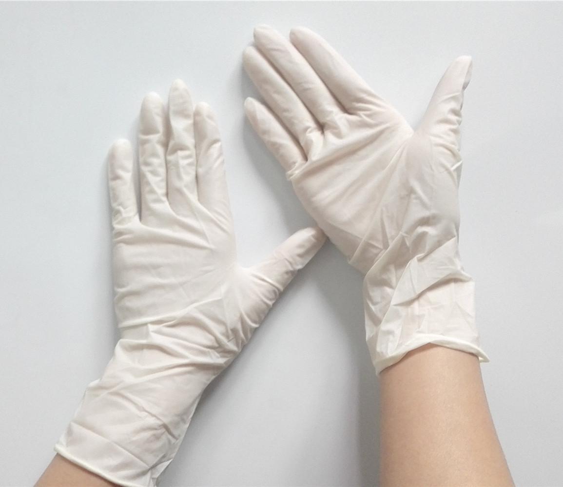 洁净室乳胶无粉手套-9英寸