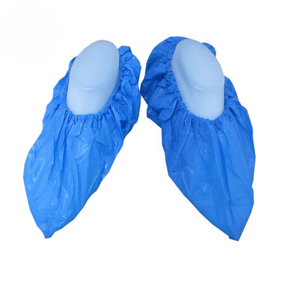 一次性CPE鞋套_蓝色塑料鞋套_防滑脚套